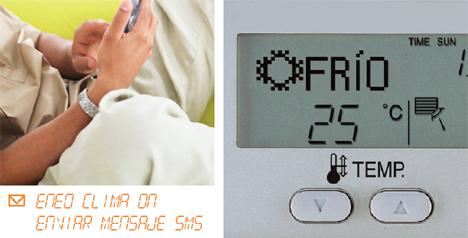 SMS Móvil Clima Calefaccion Aireacondicionado  eNeo Digital Resort Hogar Digital Domótica Seguridad