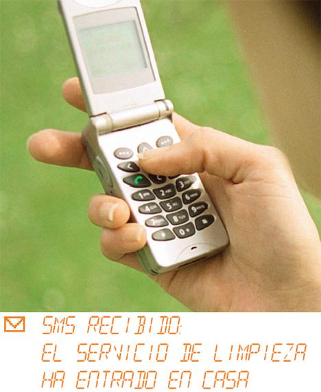 Móvil SMS Servicio de Limpieza eNeo Digital Resort Hogar Digital Domótica Seguridad