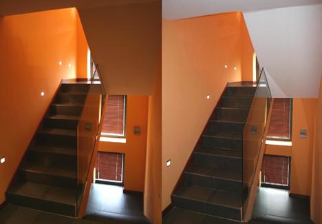 Escalera Escenario Luz Iluminación INMOMATICA Supercasas Domux Hogar Digital Domotica Seguridad Cine en Casa