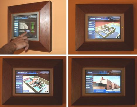 Pantallas Táctiles Interfaces KNX INMOMATICA Supercasas Domux Hogar Digital Domotica Seguridad Cine en Casa