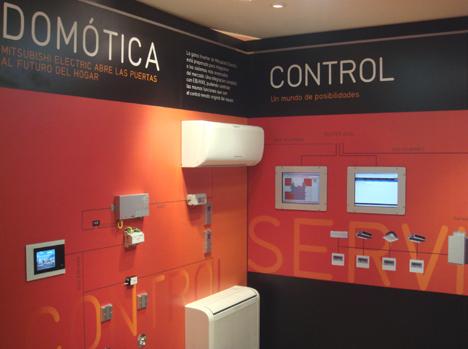 Mitsubishi Electric Stand Feria Climatización Confort Ahorro Energético Hogar Digital