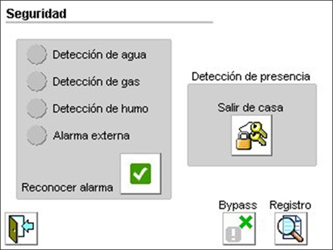 Seguridad Pantalla eyeTOUCH Home Systems Ingelabs Domótica