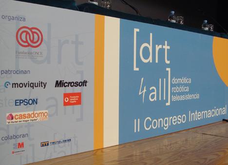 Patrocinadores DRT4ALL II Congreso Internacional sobre Domótica, Robótica y Teleasistencia para Todos