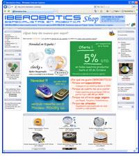 Web Tienda On-Line Iberrobotics