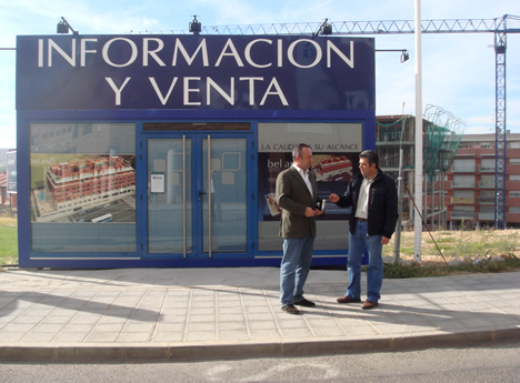 Obra Caseta de Ventas Promoción bel arte UTRIR e INMOMATICA Utrilla Villalba