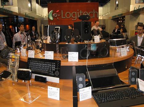 Detalle Stand Logitech en CES 2008