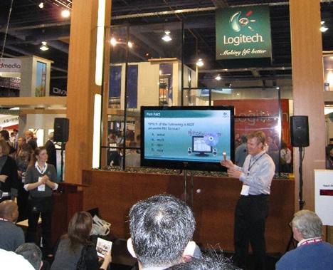 Presentación Stand Logitech en CES 2008