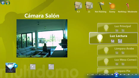 Captura Pantalla Cámara Salón Software Control Hogar Digital Multidomo