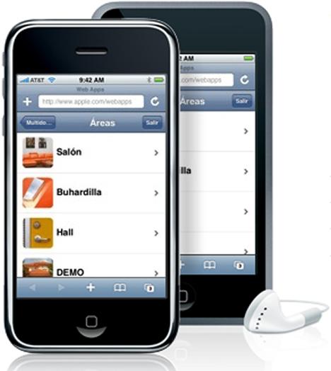 Interface iPhone Software Control Hogar Digital Multidomo