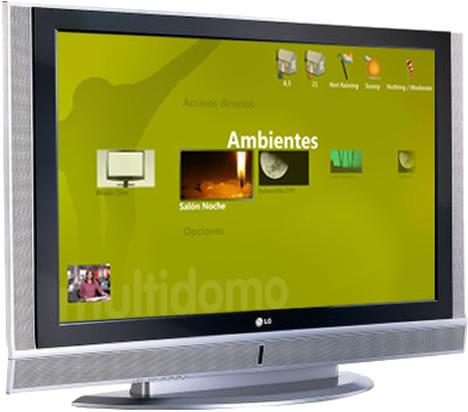 Interface TV Media Center Software Control Hogar Digital Multidomo