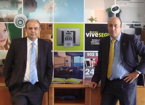 Antonio Cano de Visonic y Luis Salvador Miralles Rivera de Vivesegur