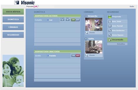 Página Web PowerLink Visonic