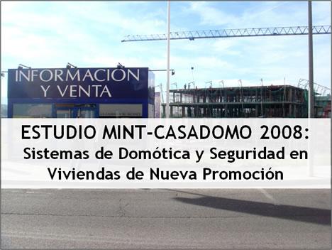 Portada Estudio MINT-CASADOMO 2008: Sistemas de Domótica y Seguridad en Viviendas de Nueva Promoción