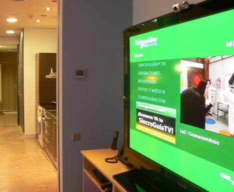 Interface Televisión Sala BCNdigital