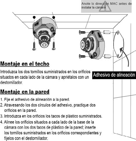 Montaje Cámara IP Vivotek LSB