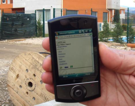 Interface Móvil CAROLine El Sitio de los Negrales de TOGASA Secosol