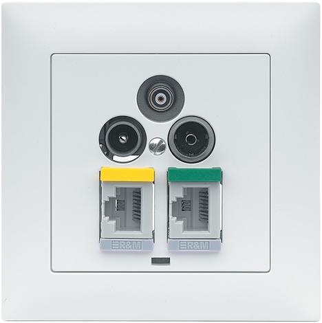 Toma Multiedia Entrepinos Realsa R&M Home Wiring System de R&M