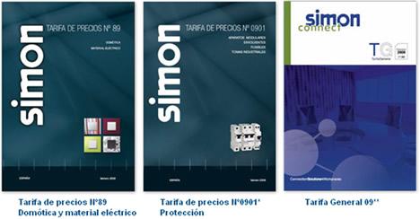 Simon Tarifas Domótica, Material Eléctrico y Connect