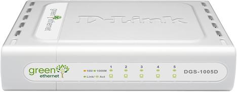 Switch Green Enternet DGS-1005D de D-Link