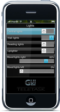 iSGUI iPhone Teletask Home Systems