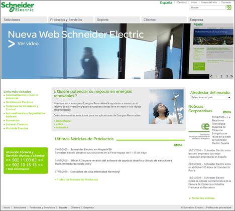 Nueva Web Schneider Electric
