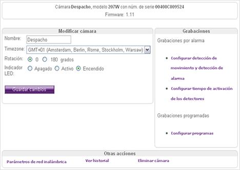 Página Web Cámara eflag Risc Group