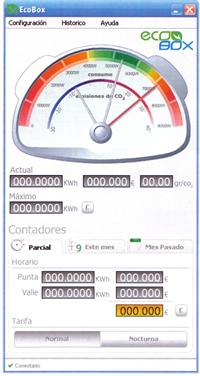 Monitorización ecobox interface