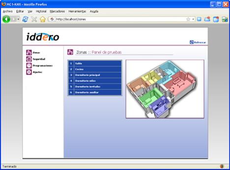 Iddero Pantalla Tactil KNX con Servidor Web