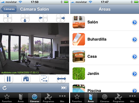 Interface Multidomo Networks para iPhone y iPod Touch en iTunes Store