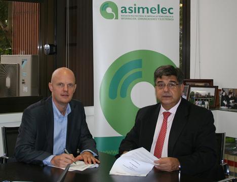 Stefan Junestrand de CASADOMO y José Perez de ASIMELEC