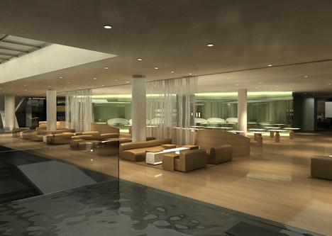 Loung del Hotel W Barcelona con inmótica KNX de Jung