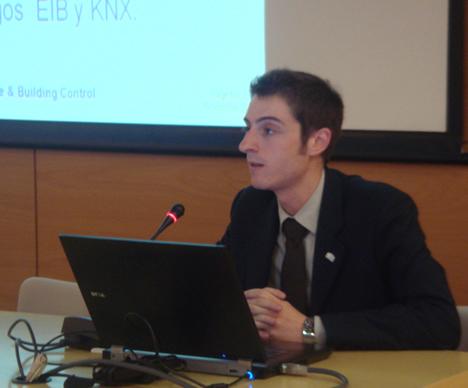 Casto Cañavate de KNX Association (Bruselas) en el KNX Workshop