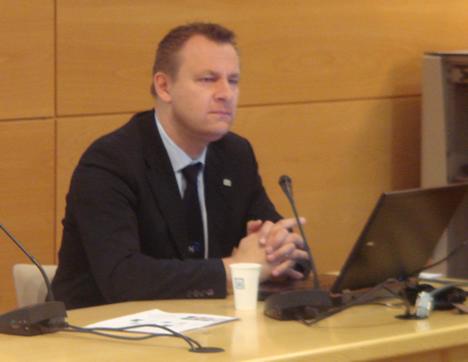 Heinz Lux, Director de Marketing de KNX Associacion en el KNX Workshop