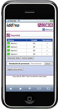 Iddero Interface iPhone