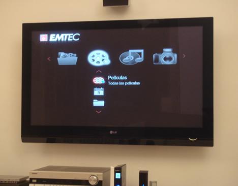 Pantalla Movie Cube S800H de EMTEC