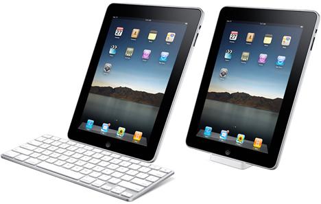 iPad Apple apoyado con teclado