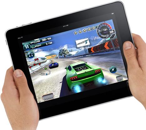 Apple iPad Jugando