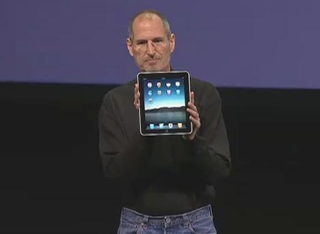 Steve Jobs presentando iPad