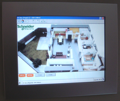 Pantalla Interface Táctil Hogar Digital
