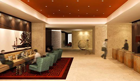 Hall Hotel Marriott en Bogotá