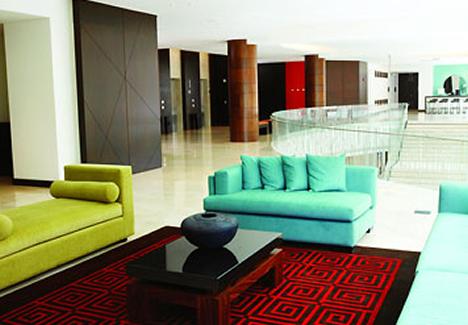 Lounge en Hotel Marriott en Bogotá