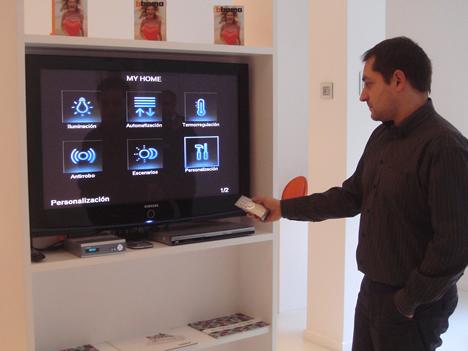 Televisor en el Concept Store de BTicino