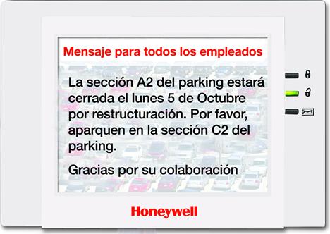 Teclado Táctil 6272CV de Honeywell Security