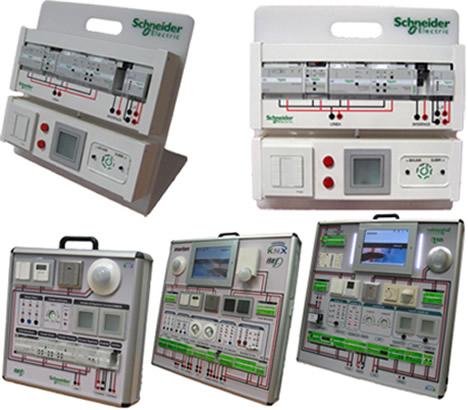 Paneles didácticos KNX de Schneider Electrid