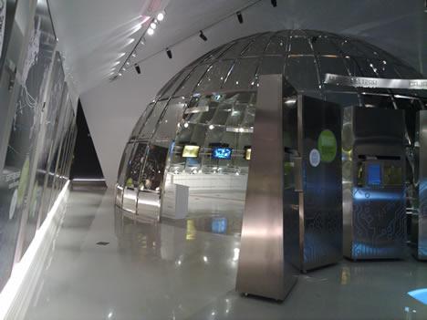 """Vista General de la sala """"La red y el mundo digital"""" del Parque Tecnológico de Vizcaya BTEK"""