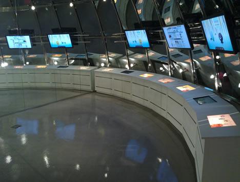 """Interior de la sala """"La red y el mundo digital"""" del Parque Tecnológico de Vizcaya BTEK"""