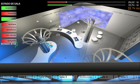 iPad control sala 3 en el Parque Tecnológico de Vizcaya BTEK