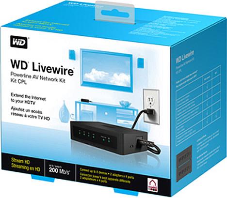 Kit de Red de Audio y Vídeo WD Livewire de WD