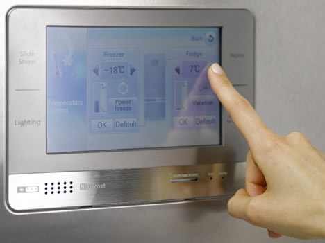 Display del frigorífico inteligente RL55/52 de Samsung