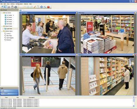 Pantalla de Videovigilancia Remota IP de Axis